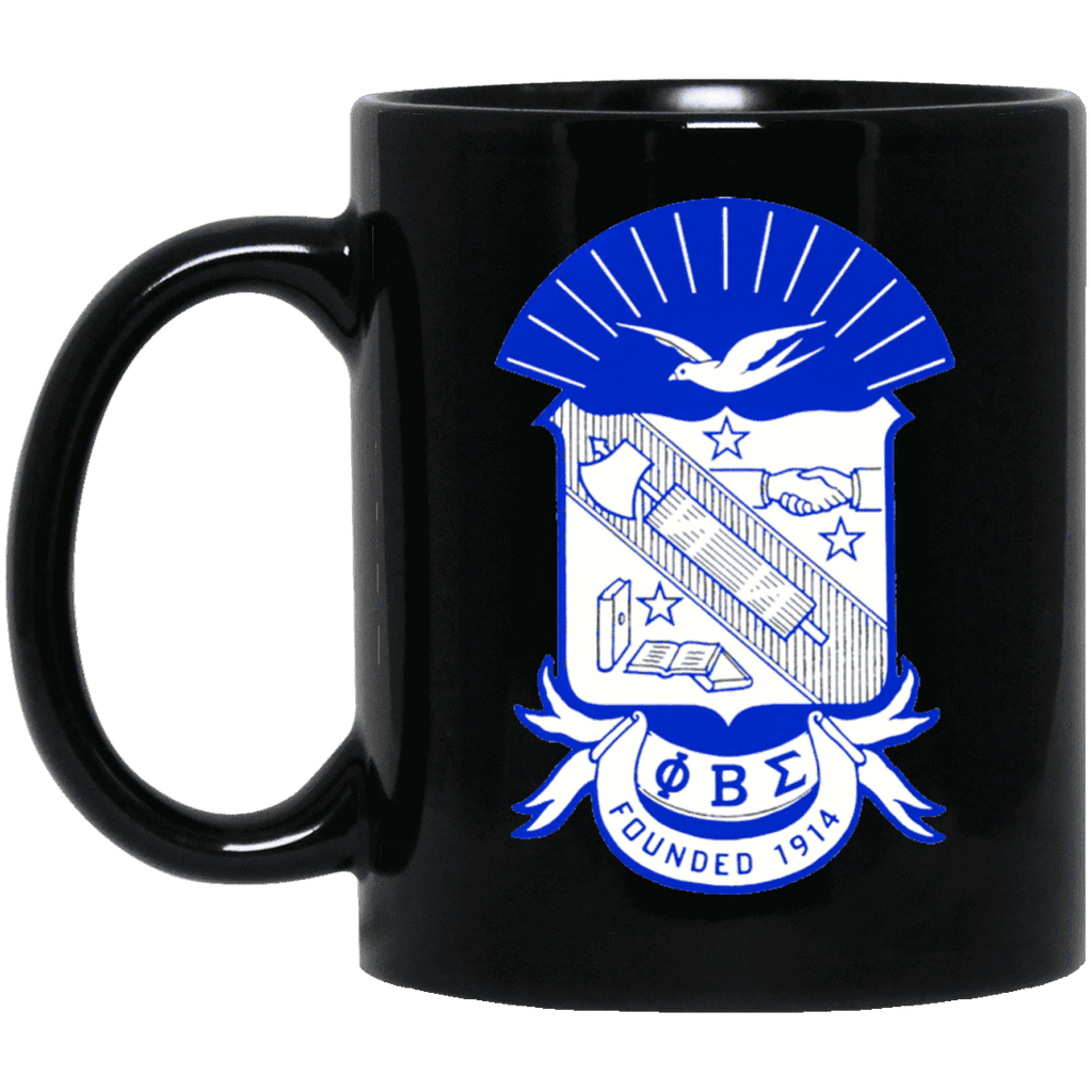 Phi Beta Sigma 11 oz. Black Mug - Unique Greek Store
