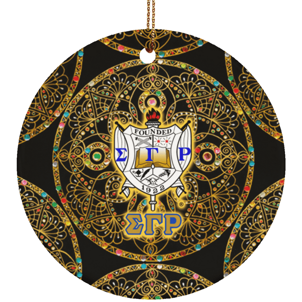 Sigma Gamma Rho Circle Ornament