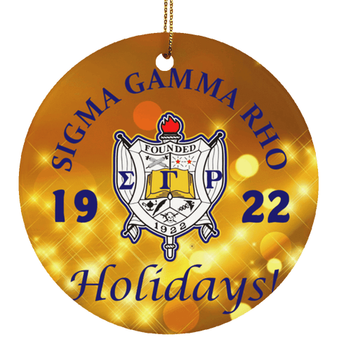 Sigma Gamma Rho Christmas Ornaments - Unique Greek Store