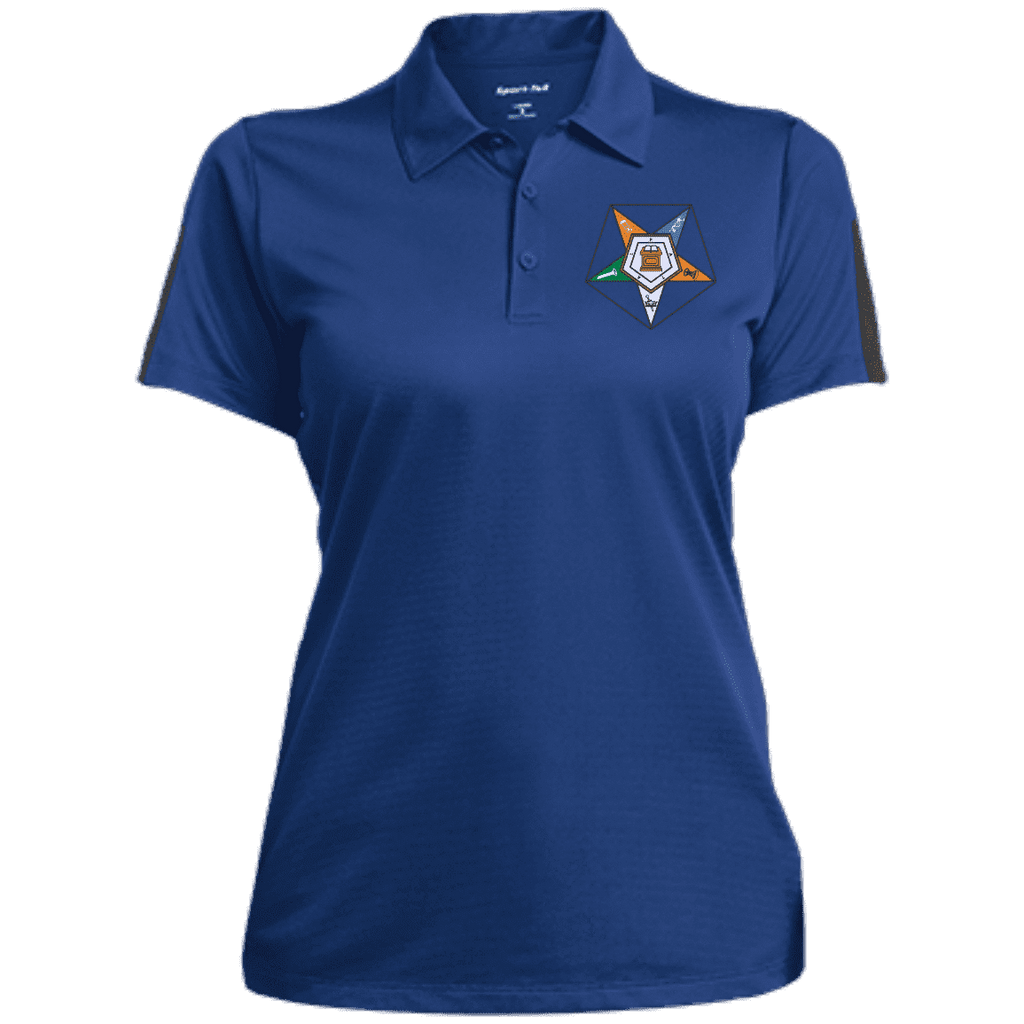Order Of The Eastern Star Performance Textured Three-Button Polo - Unique Greek Store