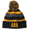Alpha Phi Alpha Striped Beanie with Pom - Unique Greek Store