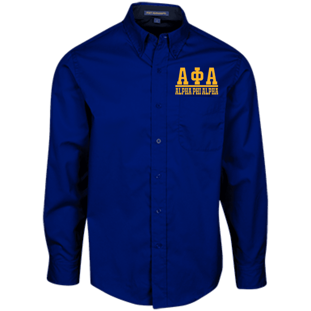 Alpha Phi AlphaLong Sleeve Dress Shirt - Unique Greek Store