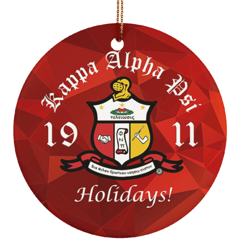 Kappa Alpha Psi Christmas Ornaments