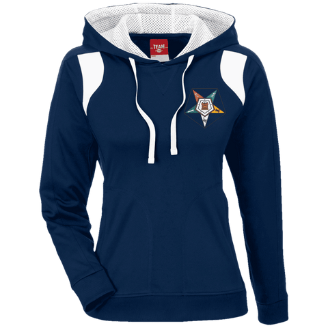 Order Of The Eastern Star Colorblock Poly Hoodie - Unique Greek Store