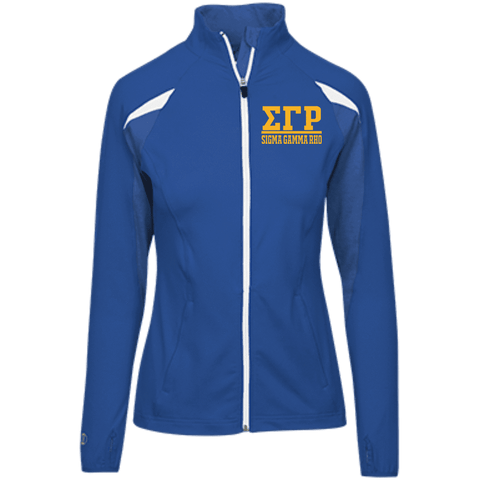Image of Sigma Gamma Rho Girls' Performance Warm-Up Jacket - Unique Greek Store
