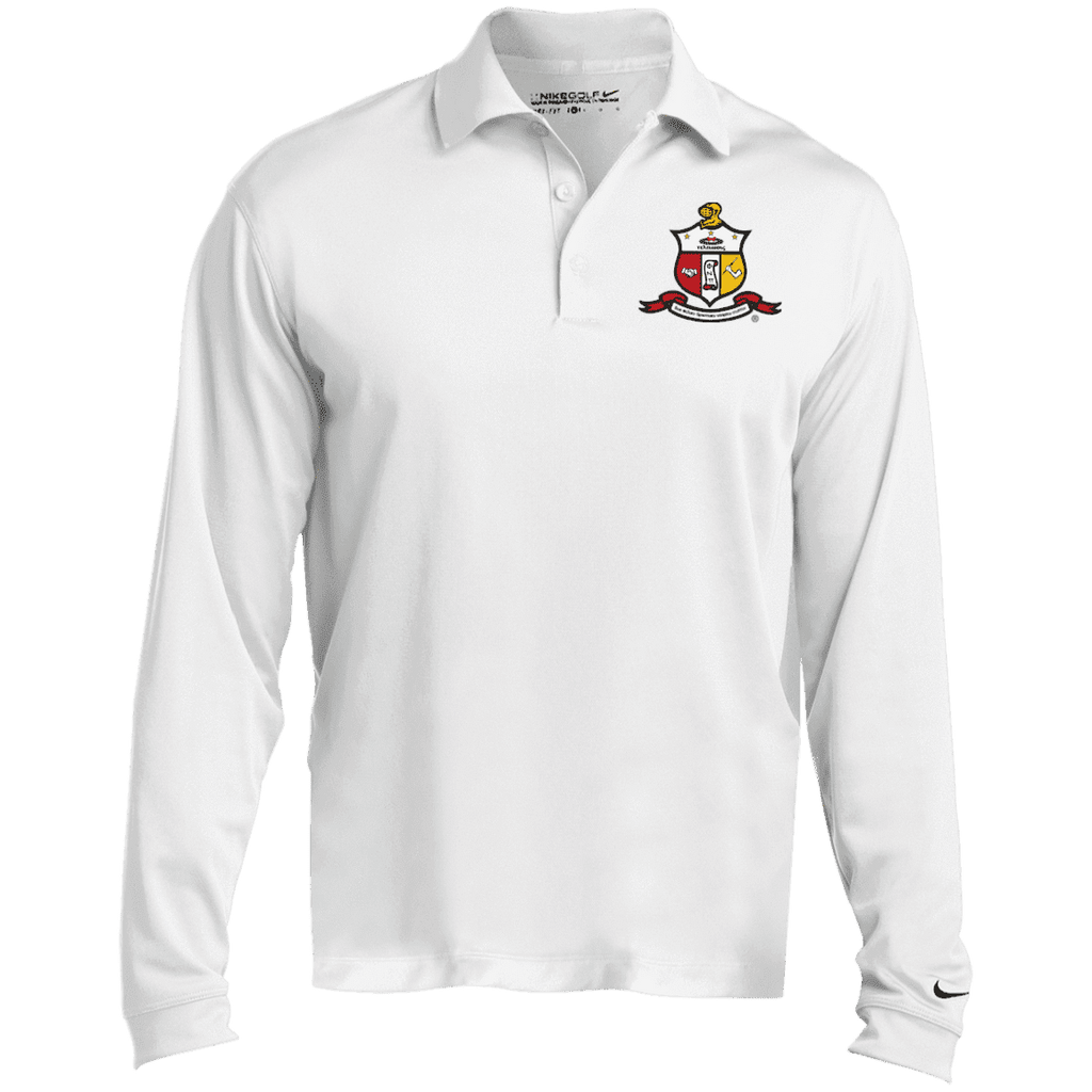 Kappa Alpha Psi Nike Long Sleeve Polo - Unique Greek Store