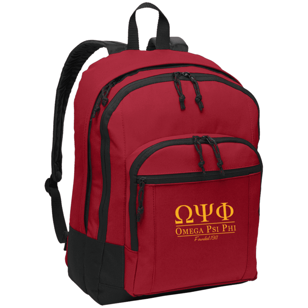 Omega Psi Phi Basic Backpack - Unique Greek Store