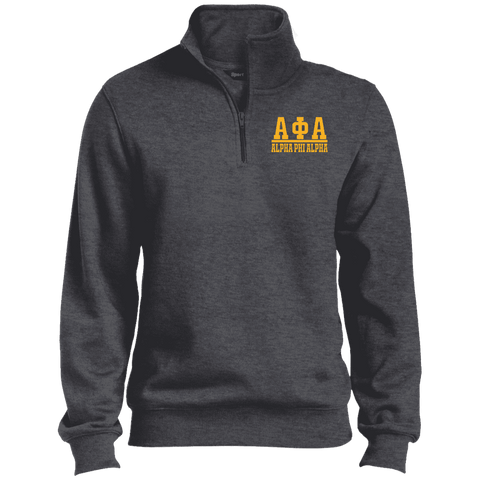Image of Alpha Phi Alpha Quarter-Zip Embroidered Sweatshirt - Unique Greek Store