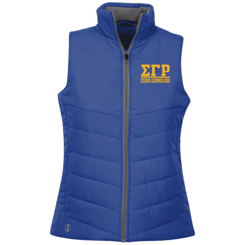 Sigma Gamma Rho Ladies Quilted Vest - Unique Greek Store