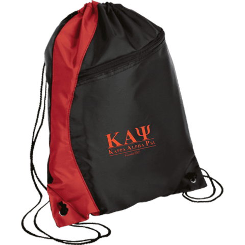 Kappa Alpha Psi Colorblock Cinch Pack - Unique Greek Store