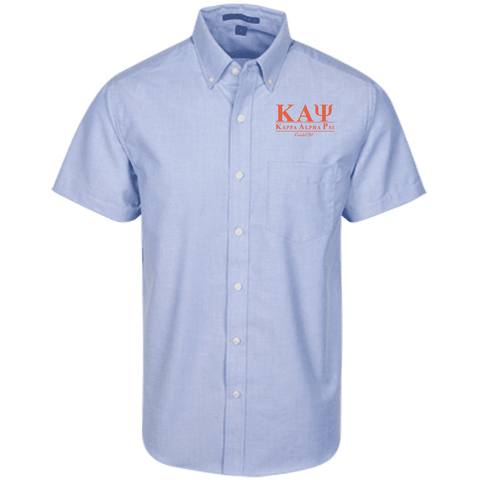 Image of Kappa Alpha Psi Short Sleeve Oxford Shirt - Unique Greek Store