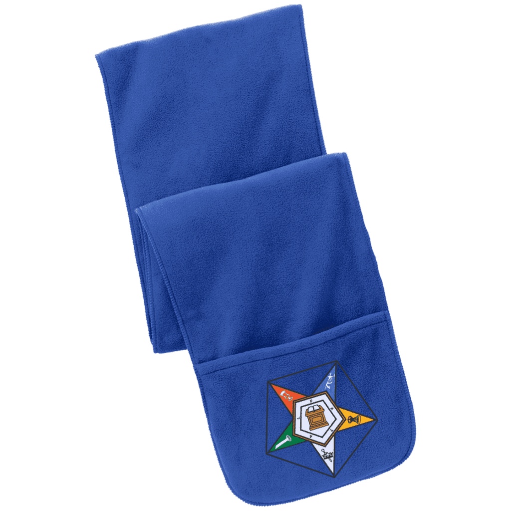 Order Of The Eastern Star Fleece Scarf with Pockets - Unique Greek Store