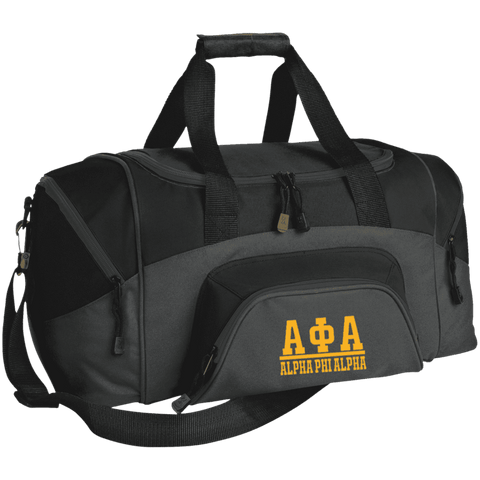 Image of Alpha Phi Alpha Small Colorblock Sport Duffel Bag - Unique Greek Store