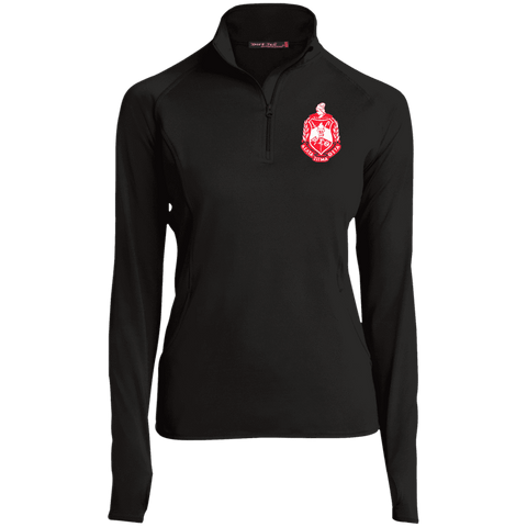 Image of Delta Sigma Theta 1/2 Zip Performance Pullover - Unique Greek Store