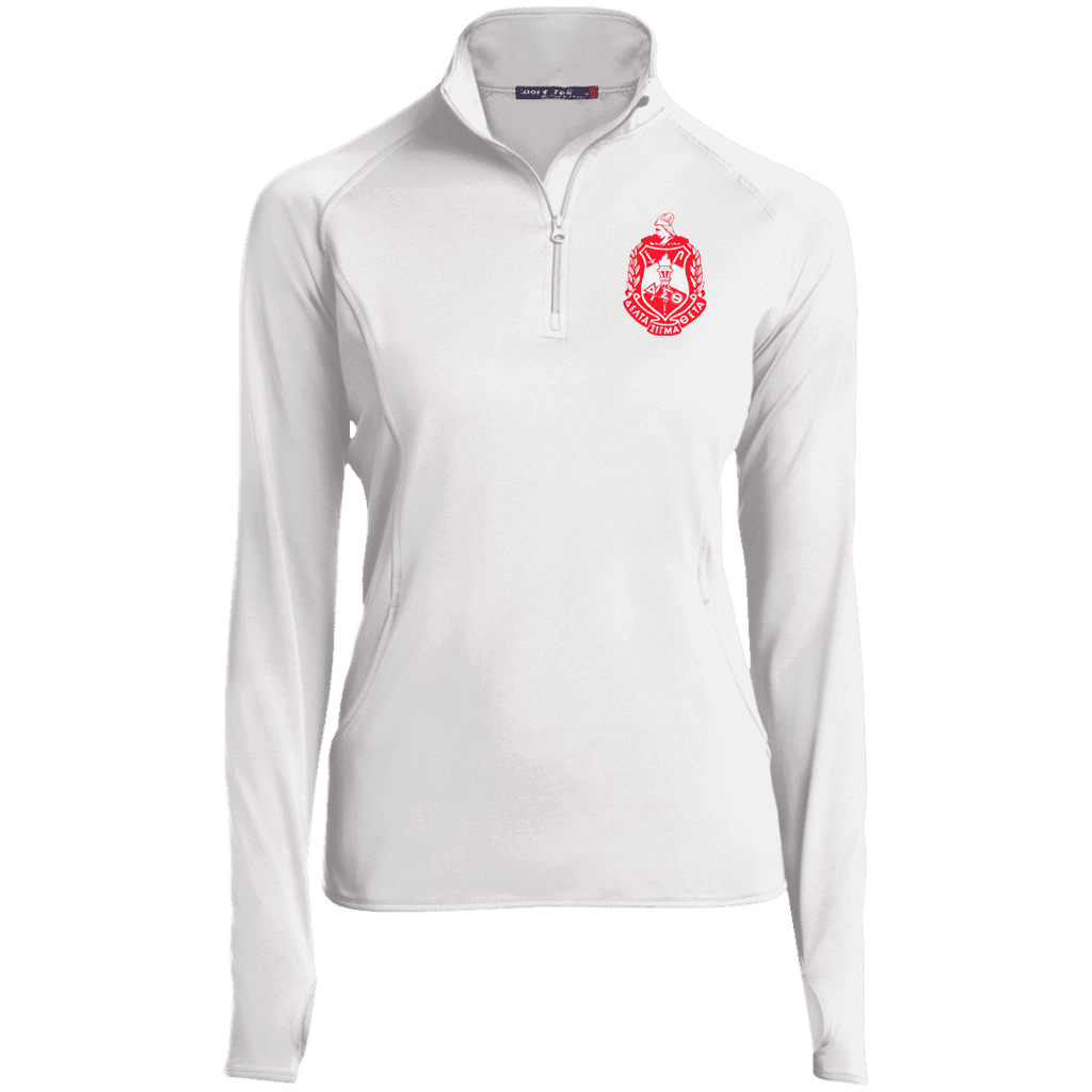 Delta Sigma Theta 1/2 Zip Performance Pullover - Unique Greek Store