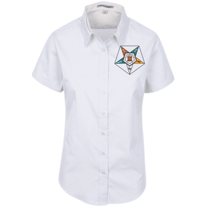Order Of The Eastern Star Short Sleeve Easy Care Shirt for Her - Unique Greek Store