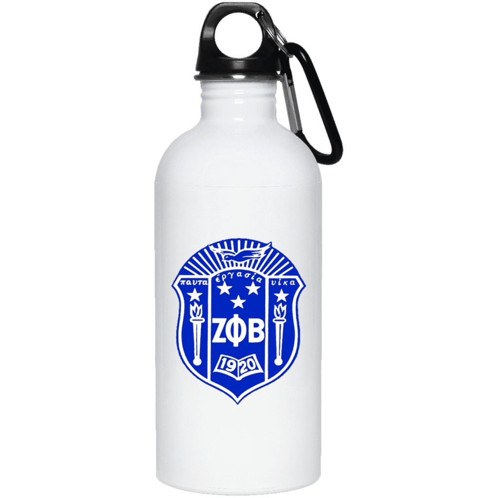Zeta Phi Beta 20 oz. Stainless Steel Water Bottle - Unique Greek Store