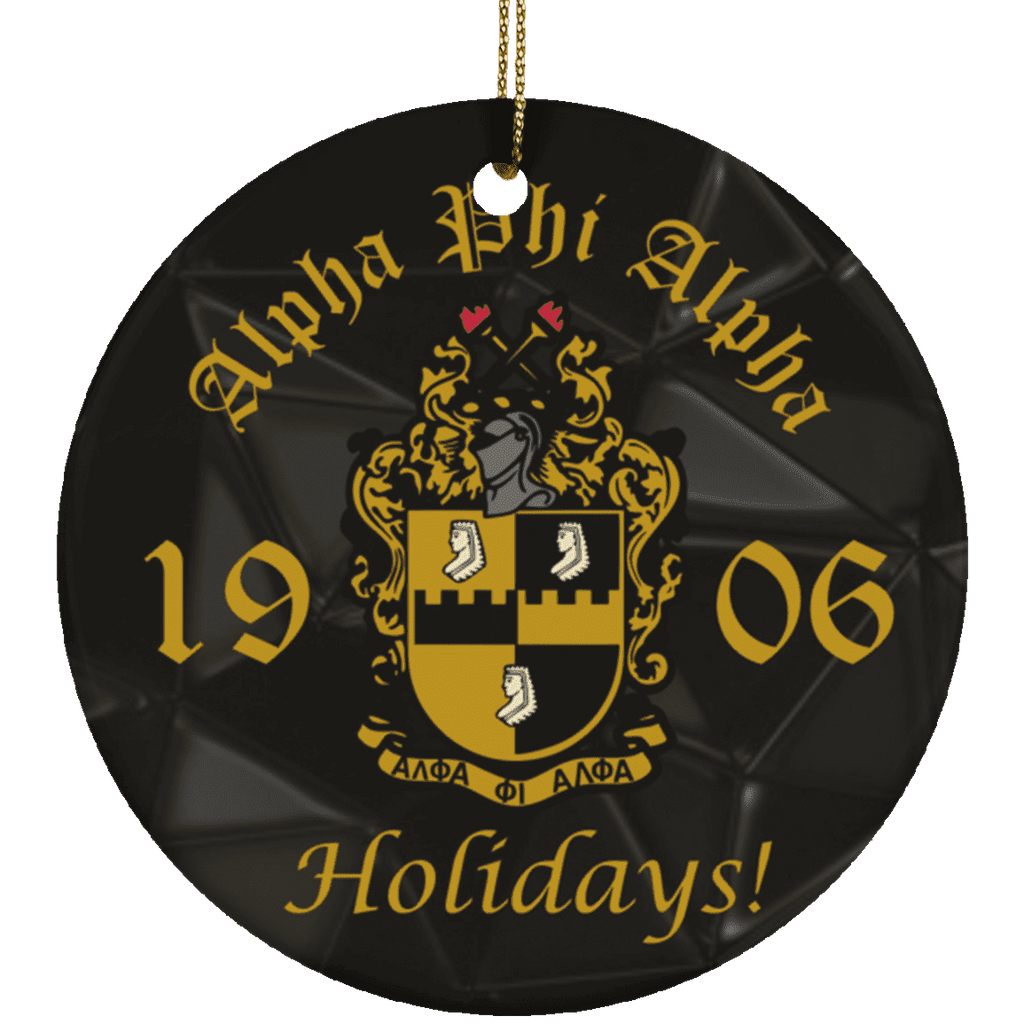 Alpha Phi Alpha Christmas Ornaments - Unique Greek Store