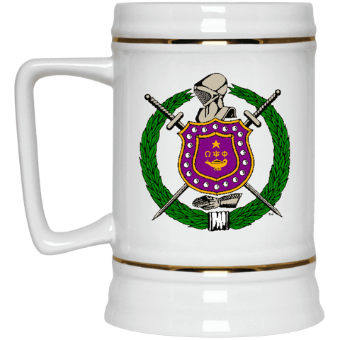 Omega Psi Phi Beer Stein 22oz. - Unique Greek Store