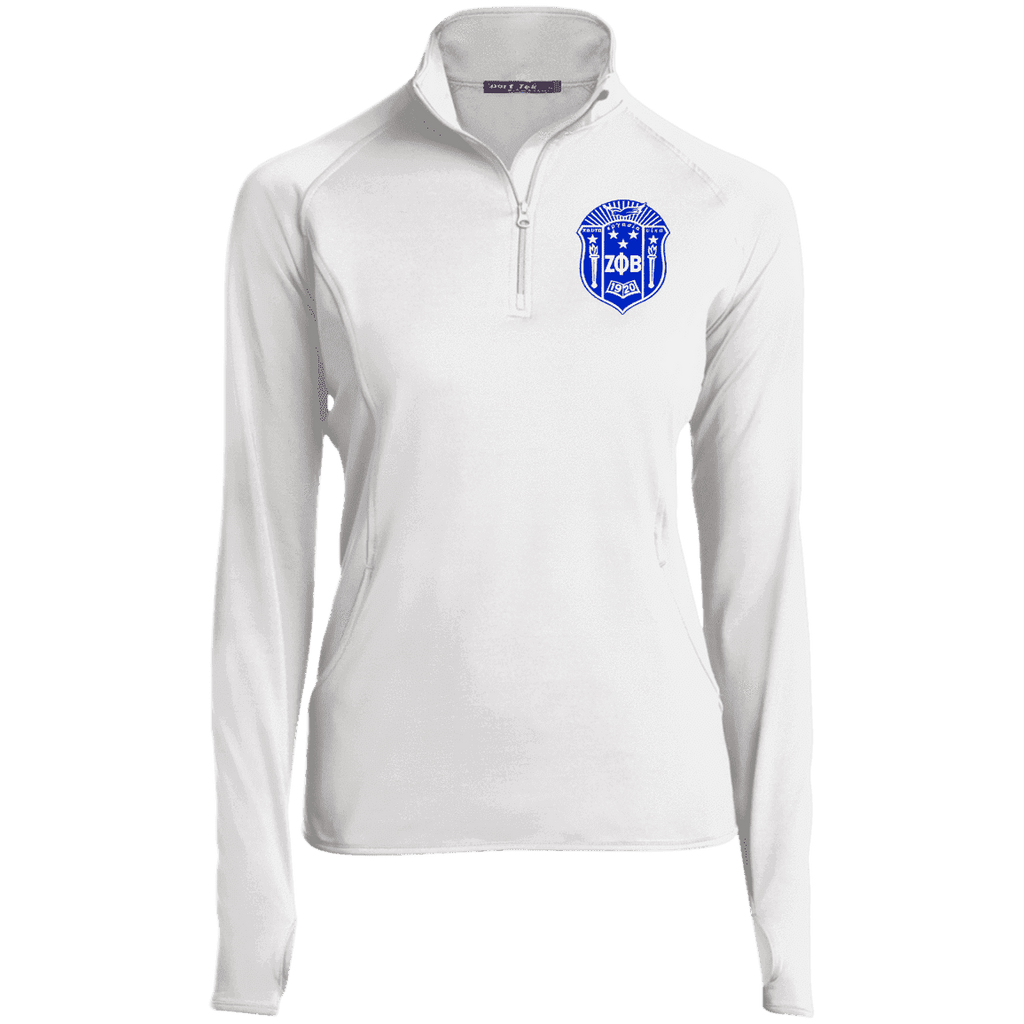 Zeta Phi Beta 1/2 Zip Performance Pullover - Unique Greek Store