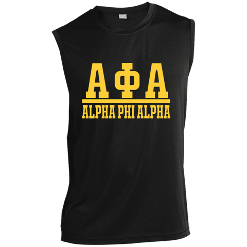 Image of Alpha Phi Alpha Sleeveless Performance T Shirt - Unique Greek Store