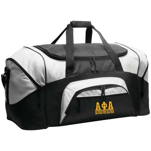 Alpha Phi Alpha Colorblock Sport Duffel - Unique Greek Store