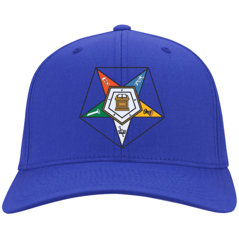 Image of Order Of The Eastern Star a Flex Fit Twill Baseball Cap - Unique Greek Store