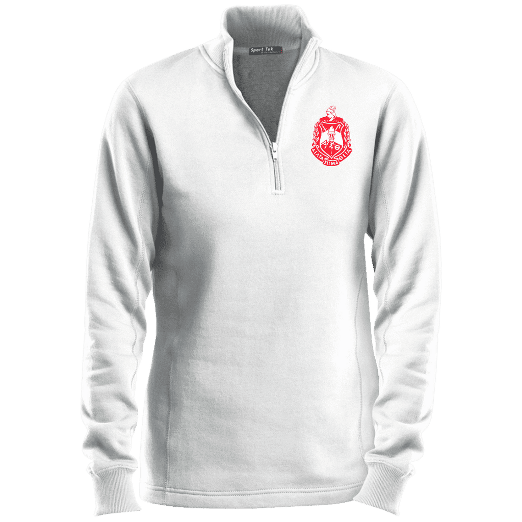 Delta Sigma Theta Ladies' 1/4 Zip Sweatshirt - Unique Greek Store