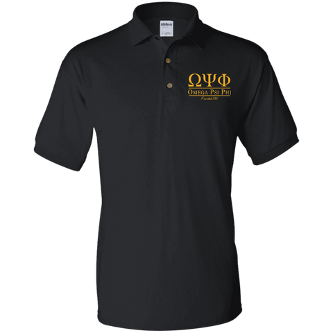 Image of Omega Psi Phi Jersey Polo - Unique Greek Store