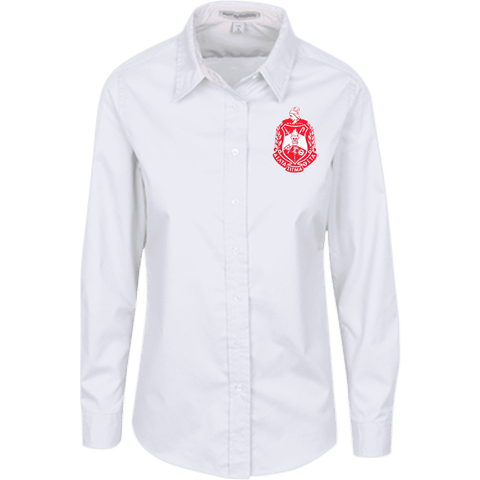 Delta Sigma Theta LS Blouse - Unique Greek Store