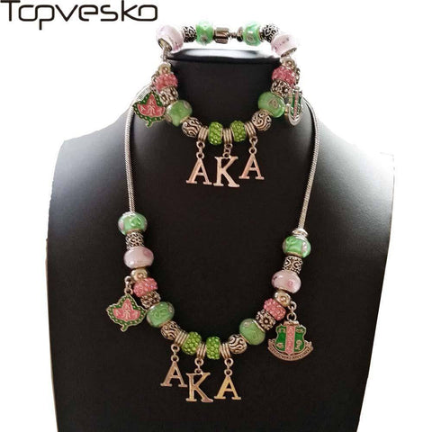 Alpha Kappa Alpha Pandora Jewelry Set