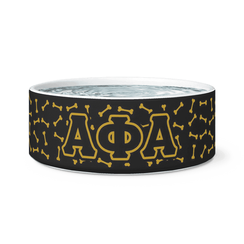 Image of Alpha Phi Alpha Dog Bowl - Unique Greek Store