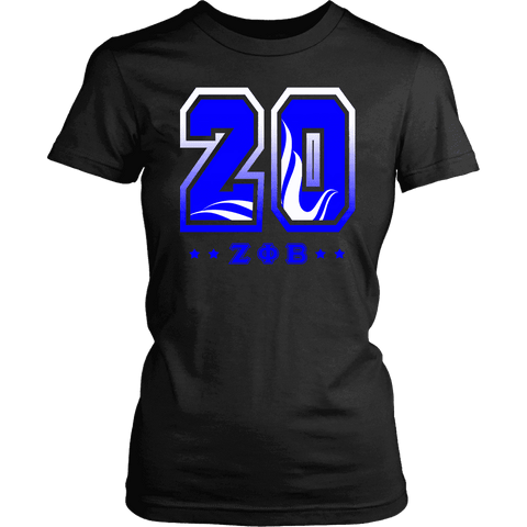 Image of Zeta Phi Beta Founding Year District Womens Shirt - Unique Greek Store