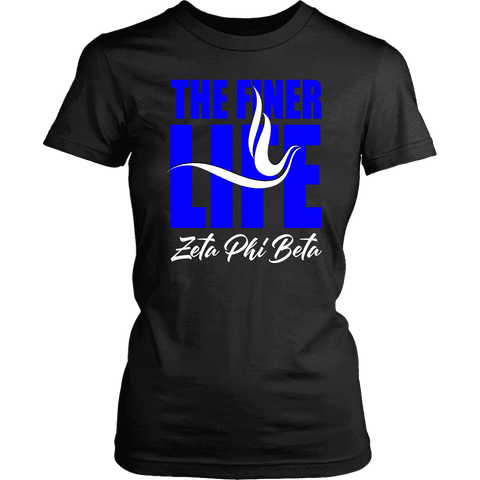 Zeta Phi Beta Tagline District Womens Shirt - Unique Greek Store