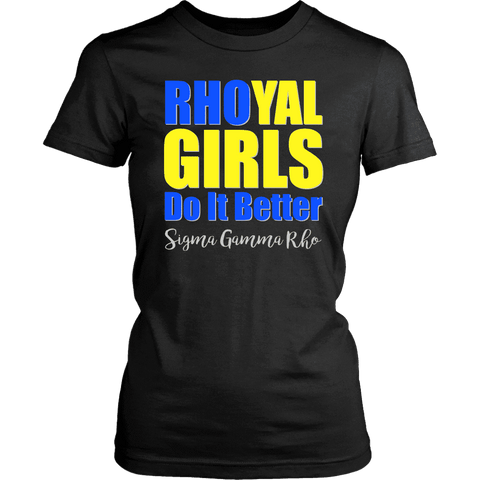 Sigma Gamma Rho Tagline  District Womens Shirt - Unique Greek Store