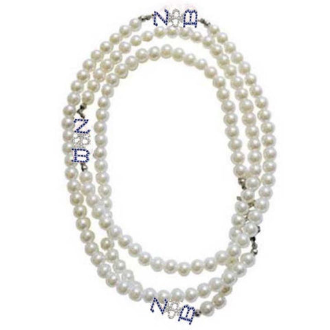 Image of Zeta Phi Beta Multilayer Pearl Necklace Set B