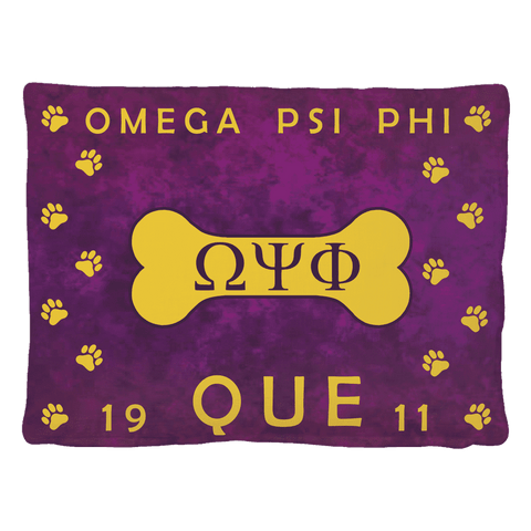 Image of Omega Psi Phi Pet Bed - Unique Greek Store