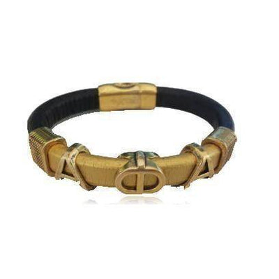 Alpha Phi Alpha Leather Bracelet - Unique Greek Store