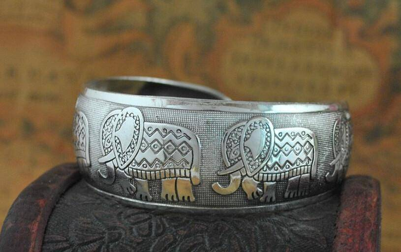 DST Elephant Bangle - Unique Greek Store