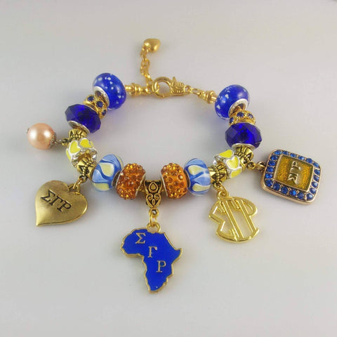 Sigma Gamma Rho Charm Bracelet - Unique Greek Store