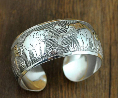 Image of DST Elephant Bangle - Unique Greek Store