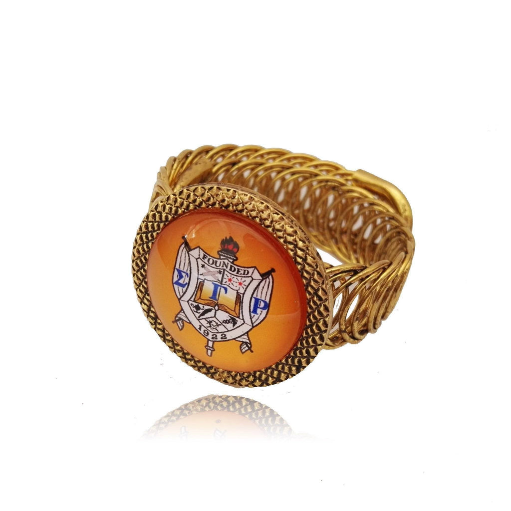 Sigma Gamma Rho Spring Cuff Bangle - Unique Greek Store