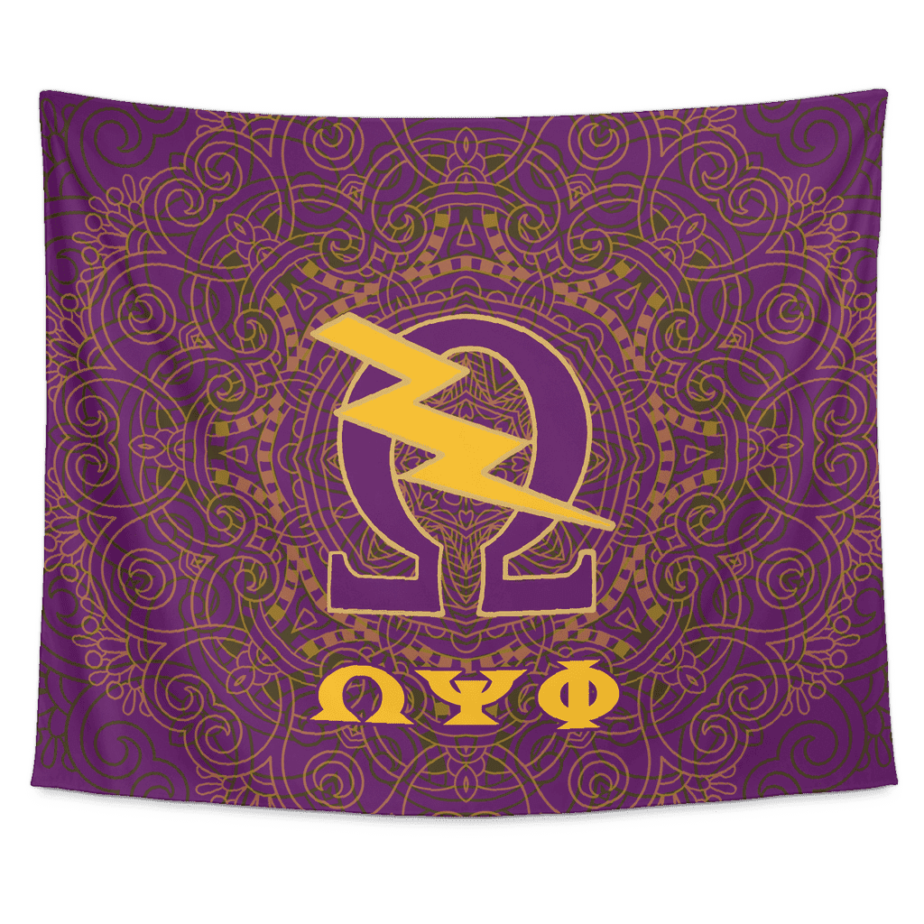 Omega Psi Phi Tapestry - Unique Greek Store