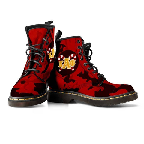 Image of Kappa Alpha Psi Leather Boots - Unique Greek Store