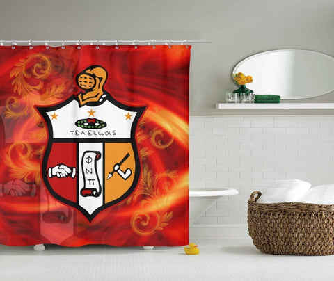 Kappa Alpha Psi Shower Curtain - Unique Greek Store
