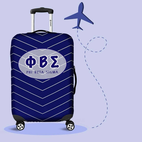 Image of Phi Beta Sigma Luggage Cover Logo - Unique Greek Store