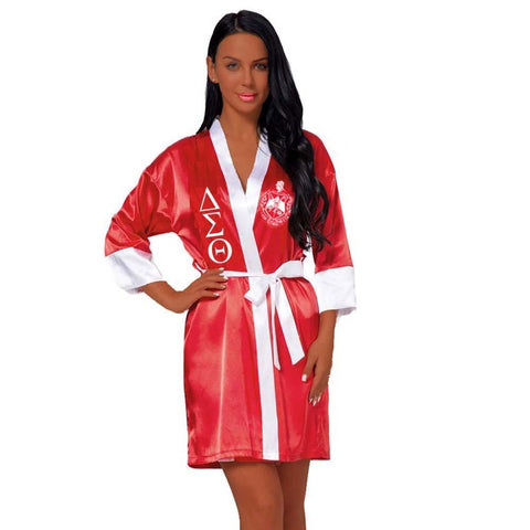 Delta Sigma Theta Loose Silk Bathrobe