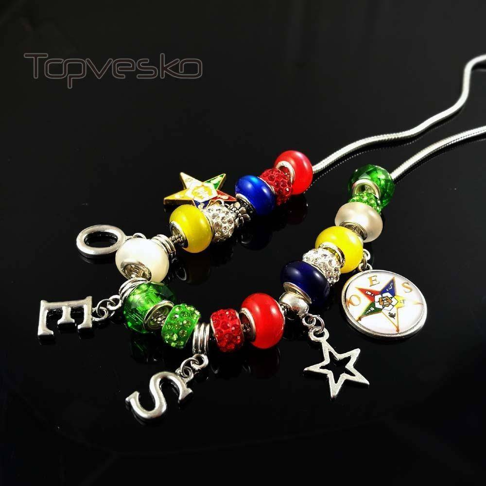 Order of the Eastern Star Charm Necklace