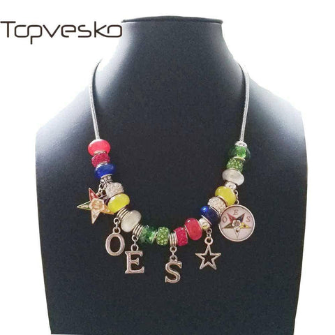 Image of Order of the Eastern Star Charm Necklace