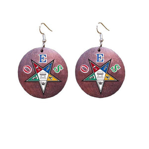 Order of the Eastern Star African Star Earrings